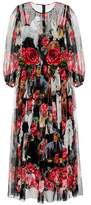 Dolce & Gabbana Robe longue en soie