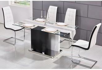 Orren Ellis Kingsdown Modern Glass Dining Table