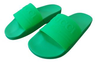 Gucci Green Rubber Sandals