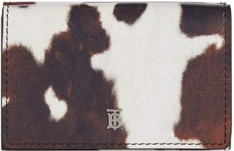 Burberry Cow-Print Leather Wallet