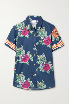 Miguelina Kaiyah Floral-print Cotton Shirt - Blue
