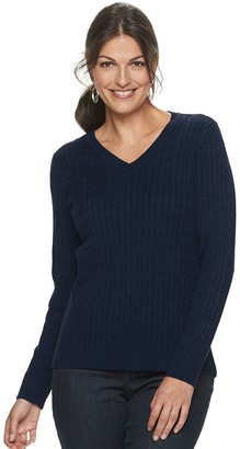 Croft & Barrow Women's The Classic V-Neck Sweater