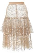 Rodarte Sequin Embellished Tiered Skirt