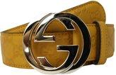 Gucci Guccissima Leather Interlocking G Buckle Belt 114876