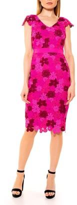 Alexia Admor Emersyn Floral Crochet Lace Sheath Dress