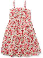 Ralph Lauren Sleeveless Floral Button-Back Sundress, Pink, Size 5-6X