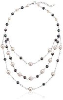 Bella Pearl Triple Low Line Necklace, 24""