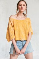 Silence & Noise Silence + Noise Asymmetrical Off-The-Shoulder Tee