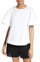 Kate Spade Women's Flutter Sleeve Cotton Top
