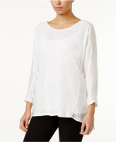 Alfani Mixed-Media Top, Only at Macy's