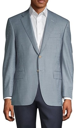 Canali Classic-Fit Mini Houndstooth Suit Jacket