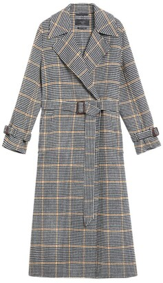 Max Mara Windowpane Check Trench Coat