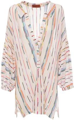 Missoni Sheer Knit Caftan Mini Dress