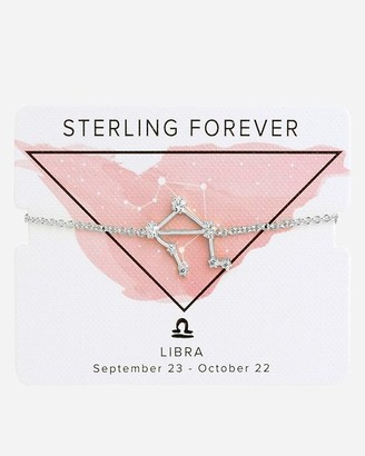 Express Sterling Forever Silver Libra Constellation Bolo Bracelet