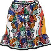 Emilio Pucci Palm Leaf Print Twill Shorts