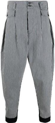 Maison Margiela High-Waist Striped Work Trousers