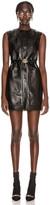 Gucci Leather Mini Dress in Black   FWRD