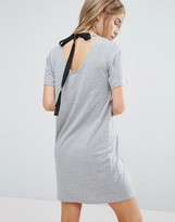 New Look Tie Back Detail T-Shirt Dress