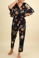 Umgee USA Fall Floral Jumpsuit