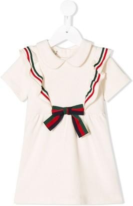 Gucci Kids ruffle trim Web dress