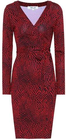 Diane von Furstenberg Polka dotted silk wrap dress