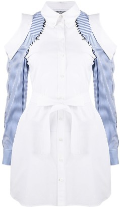 Moschino Cold-Shoulder Shirt Dress