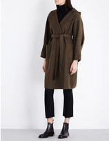 Mo&Co. Hooded wool-blend wrap coat