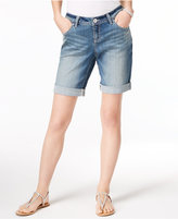INC International Concepts Curvy-Fit Cuffed Denim Shorts, Created for Macy's