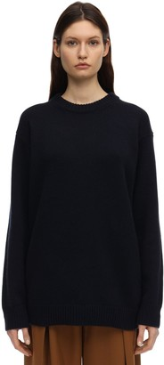The Row Heavy Cashmere Knit Sweater