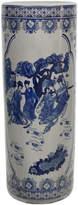 Asstd National Brand Oriental Furniture 24 Ladies Blue & White Porcelain Umbrella Stand