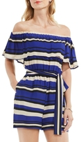 Vince Camuto Striped Off-the-shoulder Romper