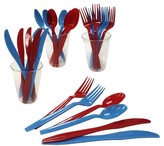 POPTIMISM! 24ct 4th of July Red & Blue Cutlery Set - POPTIMISM!