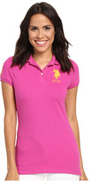 U.S. Polo Assn. Neon Logos Short Sleeve Polo Shirt
