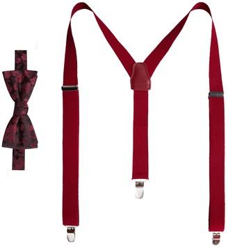 Apt. 9 Men's Pre-Tied Bow Tie & Suspenders Set