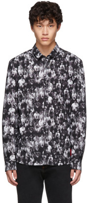 HUGO Black Ero3-W Printed Extra Slim Shirt