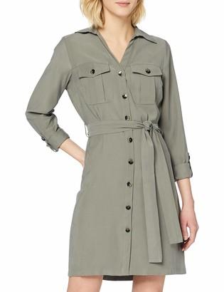 Dorothy Perkins Women's Khaki Utility Shirt Dress Casual 22