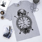 Art Disco 'Time Flies' Print T Shirt