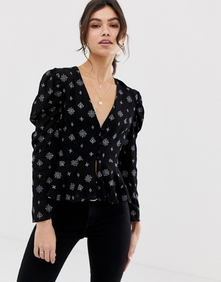 Stevie May Aftershow printed blouse