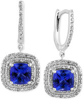 Effy Final Call Tanzanite (1-9/10 ct. t.w.) and Diamond (1/2 ct. t.w.) Drop Earrings in 14k White Gold