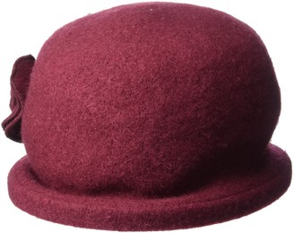 San Diego Hat Company Women's Soft Knit Cloche Hat with Side Flower Detail