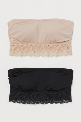 H&M 2-Pack Padded Bandeau Bras