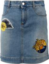 Stella McCartney Patchwork Denim Skirt