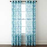 JCPenney Jcp Home Home Batiste Tile Medallion Grommet-Top Sheer Curtain Panel