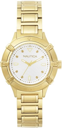 Nautica Women's Analogue Classic Quartz Watch with Stainless Steel Strap NAPCPR004