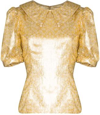 Shrimps Owen metallic lamé blouse
