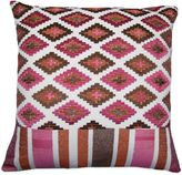 Bed Bath & Beyond Medley Embroidered Square Throw Pillow in Brown