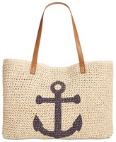 Style&Co. Style & Co Anchor Straw Beach Bag, Only at Macy's
