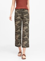 Banana Republic Petite High-Rise Wide-Leg Cropped Chino Pant
