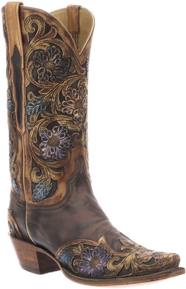 Lucchese Drea Distressed Floral Boots (Made to Order)