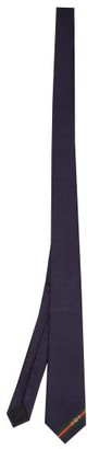 Gucci GG And Horsebit-jacquard Silk-twill Tie - Blue
